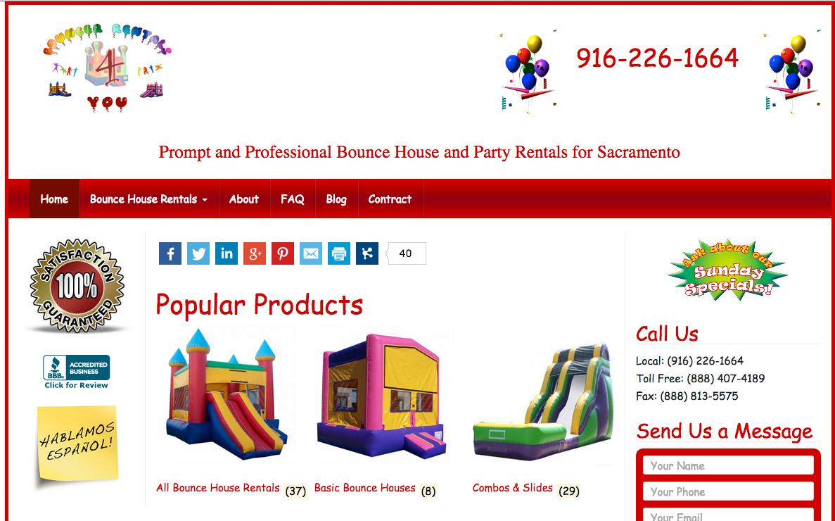 Ecommerce - Party Rentals